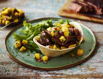 steak-taco-with-mango-salsa
